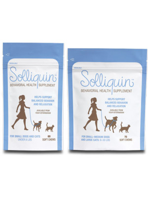 Solliquin Behavioral Health Supplement Soft Chews and Tablets for Cats and Dogs